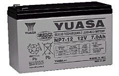 YUASA NP7-12 - LEAD BATTERY 12V 7Ah  4-5 YEARS