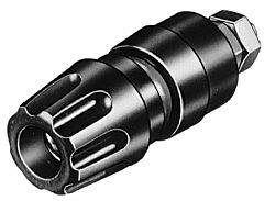 HIRSCHMANN PKI10A-MU - NAPARUUVI 16A 4mm MUSTA