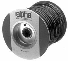 ALPHA PVC-105-9/16 BLACK - TUBE SLEEVING 14.27mm 30.5m BLACK