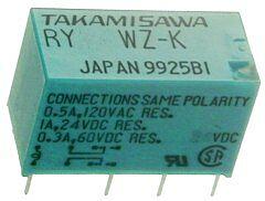 FUJITSU RY-12WZ-K - Relay 12VDC 1A 24VDC Non-Latching - DPDT