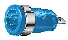 HIRSCHMANN SEB2610-F4.8-SI - SAFETY BUILT-IN SOCKET 4MM BLUE