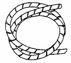 ELEMATIC SP-6N - Spiral Tube 7-40mm Halogen Free Black - 25m