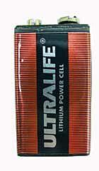 GP BATTERIES U9VL - Lithium cell battery 9V / 1.2AH