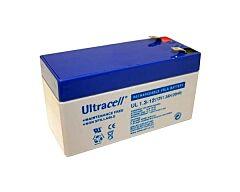 ULTRACELL UL1.3-12 - LEAD BATTERY 12V 1,3Ah 4-5 YEARS