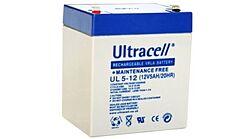 ULTRACELL UL5-12 - LEAD BATTERY 12V 5Ah 4-5 YEARS