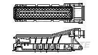 TE 828907-1 - AMP Junior Power Timer 55 Nap Naaras Liitinkotelo - Musta