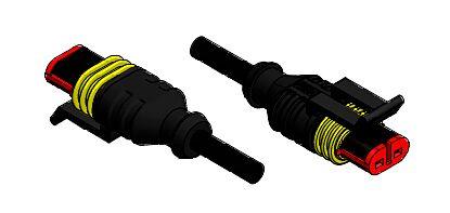 CONEC 55-00471 - SuperS-kaapeli 2-nap naaras PUR 5m