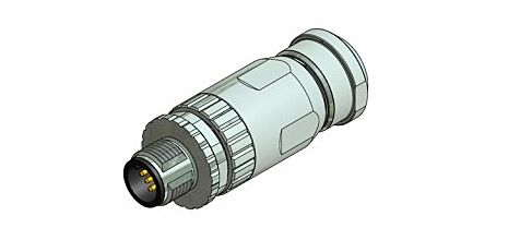 CONEC 43-00116 - M12 5 Pin Male Connector / Shielded / Angle / Cable