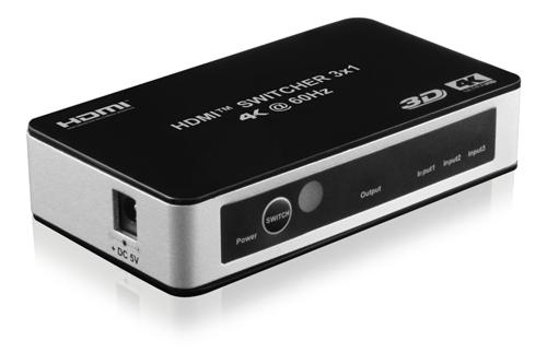 Deltaco HDMI-Kytkin - HDMI-7026 - 3 in 1 automaattinen