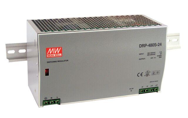 MEAN WELL DRP-480S-24 - TEHOLÄHDE DIN 480W 24V
