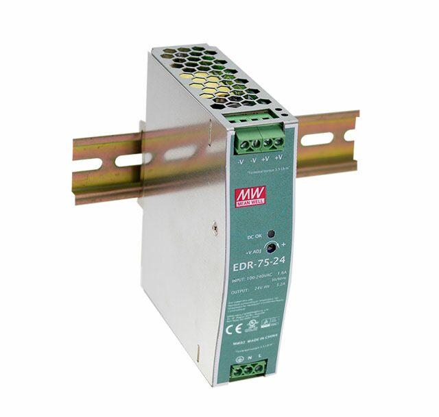 MEAN WELL EDR-75-24 -DIN Rail Power Supply 24V 3.2A 75W