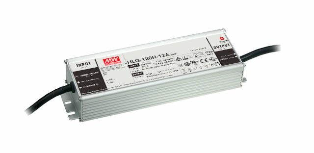 MEAN WELL HLG-120H-24B - Dimmable (3:1) LED Driver 120W 24V 5A
