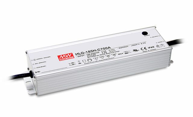 MEAN WELL HLG-185H-C1400A - Himmennettävä (potikka) LED Virtalähde 185W 1.4A 143V
