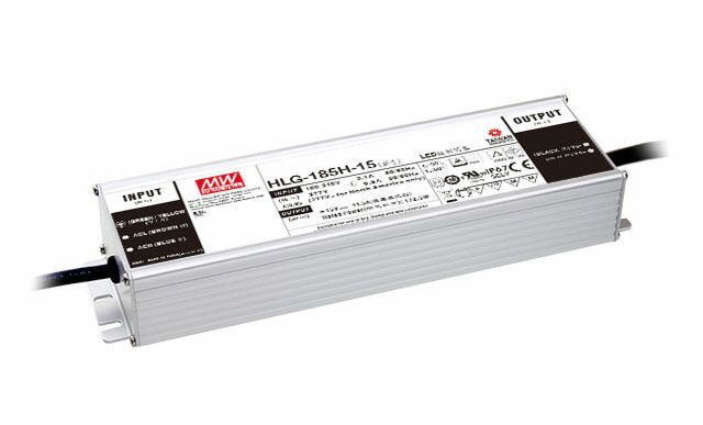 MEAN WELL HLG-185H-24 - LED Driver 185W 24V 7.8A IP67