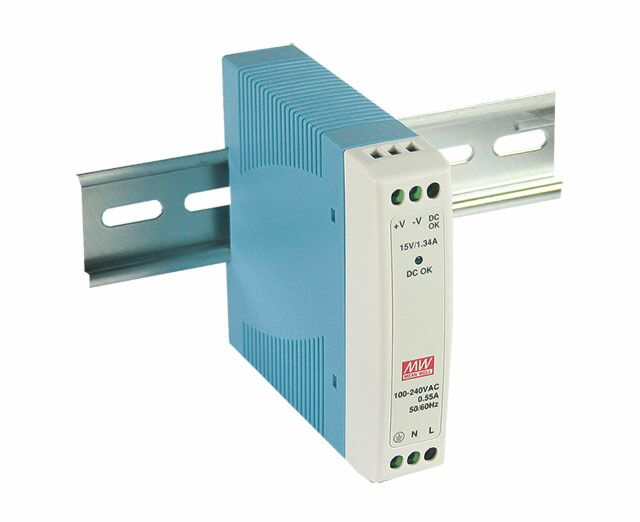 MEAN WELL MDR-10-12 - DIN Rail Power Supply 12V 0.84A 10W