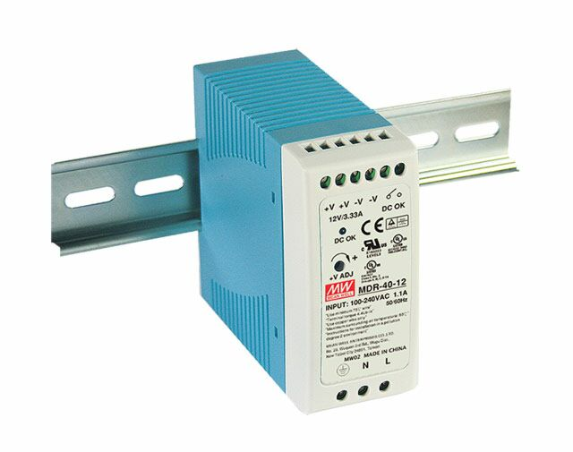 MEAN WELL MDR-40-5 - DIN Rail Power Supply 5V 6A 30W