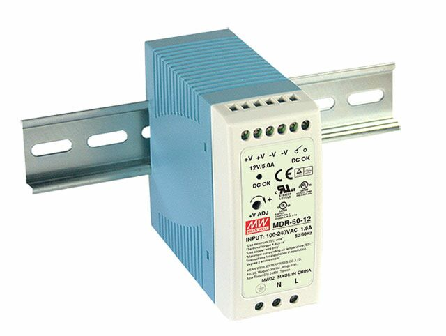 MEAN WELL MDR-60-12 - DIN Rail Power Supply 12V 5A 60W