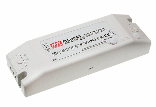 MEAN WELL PLC-60-12 - Led Virtalähde 60W 5A 12V - Vakiovirta