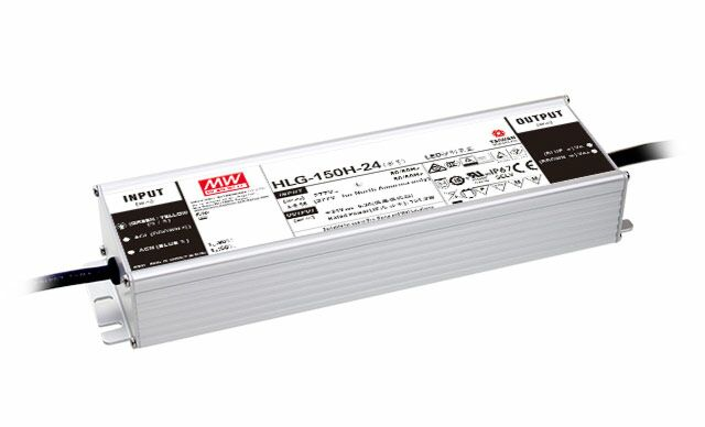 MEAN WELL HLG-150H-12B - Dimmable (3:1) LED Driver 150W 12V 12.5A