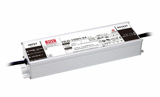 MEAN WELL HLG-150H-24 - LED Virtalähde 150W 24V 6.3A IP67