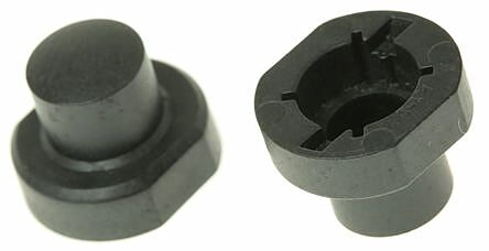 APEM 1S09-16.0 - BLACK SWITCH CAP FOR USE WITH 3F