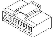MOLEX 51067-0500 - 51114 POS. LOCK PANEL MOUNT 5P RoHS