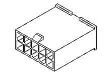 MOLEX 39-01-3109 - Mini-Fit Jr 10 napainen 2 rivinen liitinkotelo