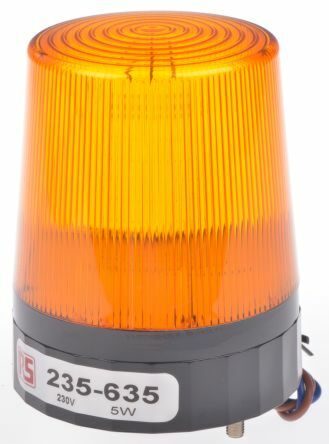 RS Pro  235635 - Xenon 230V AC keltainen pint
