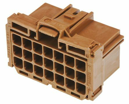 TE 8-968975-1 - AMP MCP 21 Pin Fmale Connector Housing Wire-to-Wire - Brown