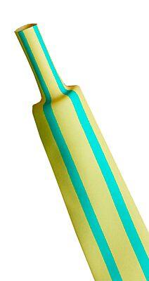 WOER W1H-4-4/5-UP - Heat Shrink Tube 4mm 2:1 Yellow/Green Halogen Free - 200m
