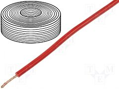 YES D-2500 - SILICONCABLE 0,75mm2 RED 25m