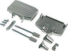 ENCITECH DPPK-M - 9 Pin D Sub Connector housing Metalized