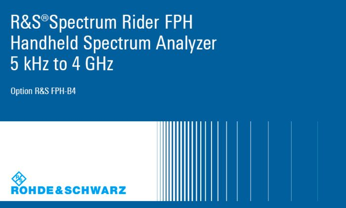 Rohde & Schwarz FPH-B4-03 - FPH-B4 Frequency Upgrade 2GHZ to 4GHZ