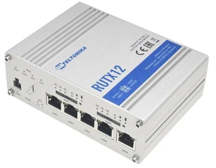 Teltonika RUTX12 Industrial dual-SIM 4G CAT6 Router