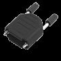 ENCITECH DPPK25 - 25 Pin D Sub Connector housing Plastic Black