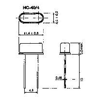 FOQ 16.00000HC49/U4 - 16.00000MHz 20pF 50/50ppm