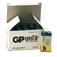 GP BATTERIES 6LF22 ULTRA PLUS BLK - ALKALINE CELL 6LF22 9V ULTRA PLUS