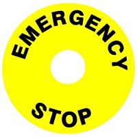 APEM A01YL1 - EMERGENCY STOP STICKER Ø60mm