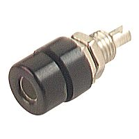 HIRSCHMANN BIL30-MU - BANANA SOCKET WITH SCREW 4MM BLACK