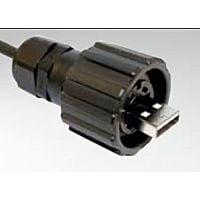 CONEC 17-200121 - USB A 2.0 CABLE PLUG IP67 BAYONET
