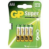GP BATTERIES LR03-GP - ALKALINE CELL LR03 AAA SUPER 4KPL