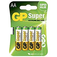 GP BATTERIES LR06-GP - ALKALINE CELL LR06 AA SUPER 4PCS