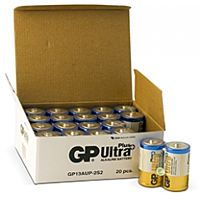 GP BATTERIES LR20 ULTRA PLUS BULK - ALKALINE CELL LR20 D ULTRA PLUS