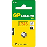 GP BATTERIES LR43-GP - ALKALINE BATTERY LR43 1.5V