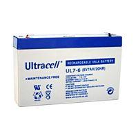 ULTRACELL UL7-6 - Lyijyakku 6V 7Ah 4-5 vuotta