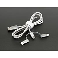 ADAFRUIT ADA3679 - USB 3-in-1 Sync and Charge Cable -