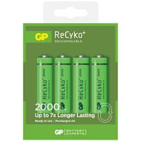 GP BATTERIES RECYKO 210AAHCE - NiMH BATTERY AA LR6 1.2V 2100mAh