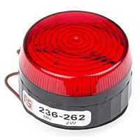 RS Pro  236262 - 230V 2W RED LOW XENON BCN
