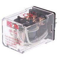 RS Pro  348829 - 3PDT yleiskäyttörele 24Vdc 1