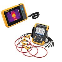 FLUKE 435-II - ADVANCED PQ AND ENERGY ANALYZER + FLUKE PTI120 - THERMAL IMAGER